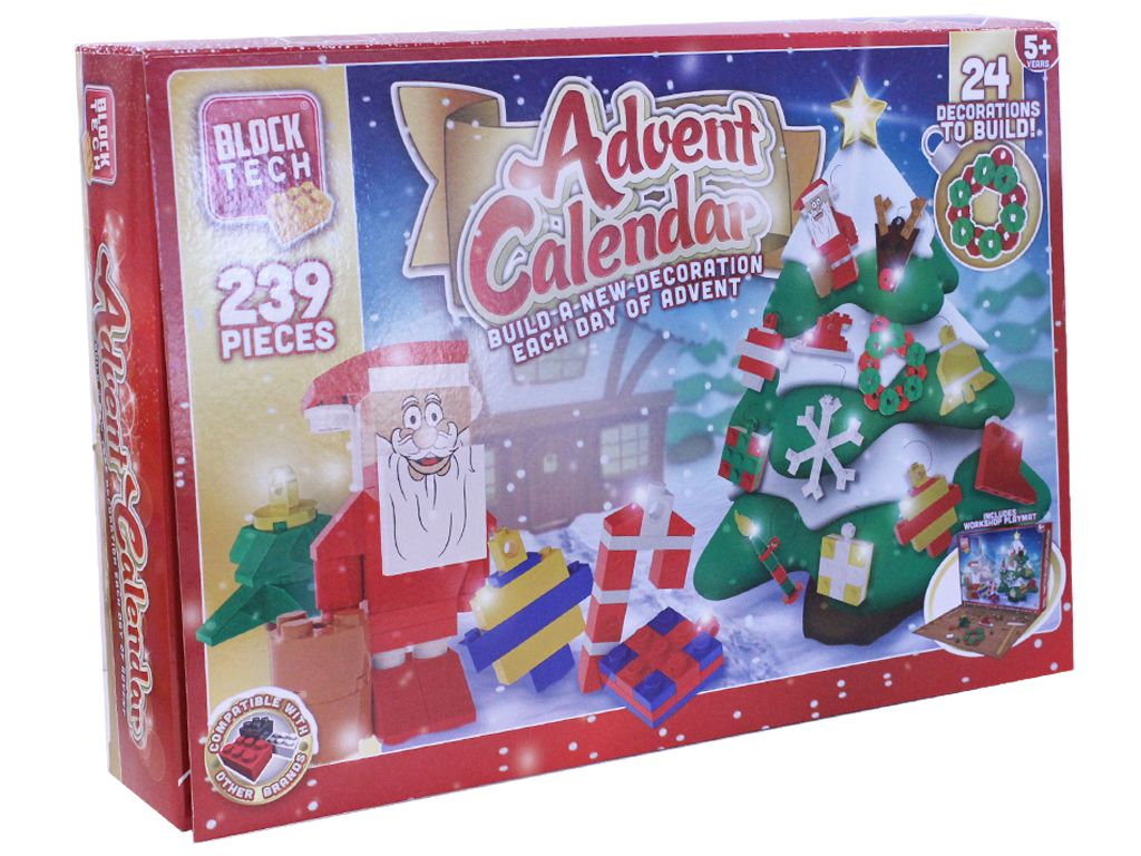 Block Tech Advent Calendar Christmas Winter For Children Building Blocks