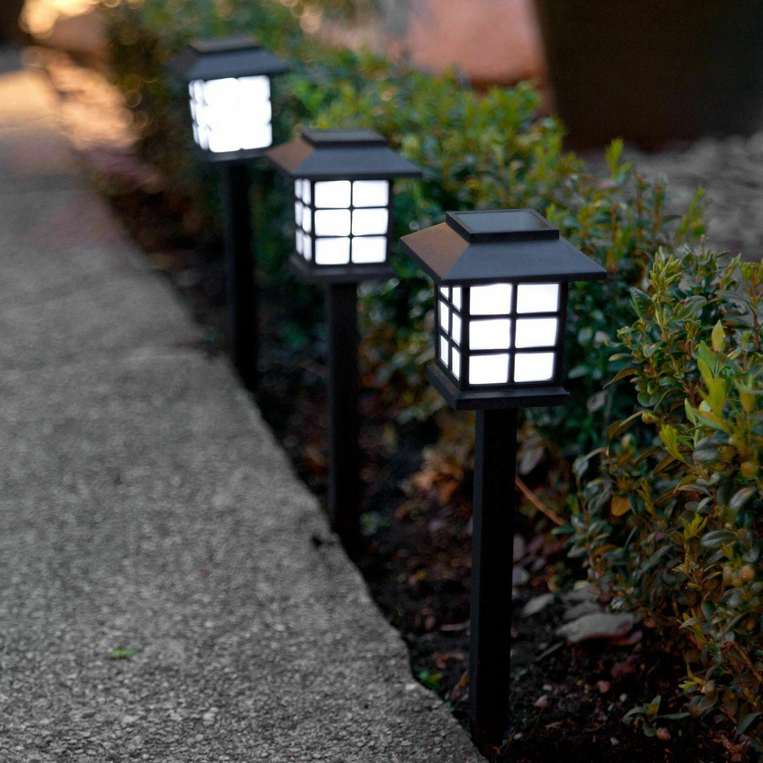 8Pack Outdoor Garden Solar Powered Oriental Lantern Stake Path Lights Lanterns