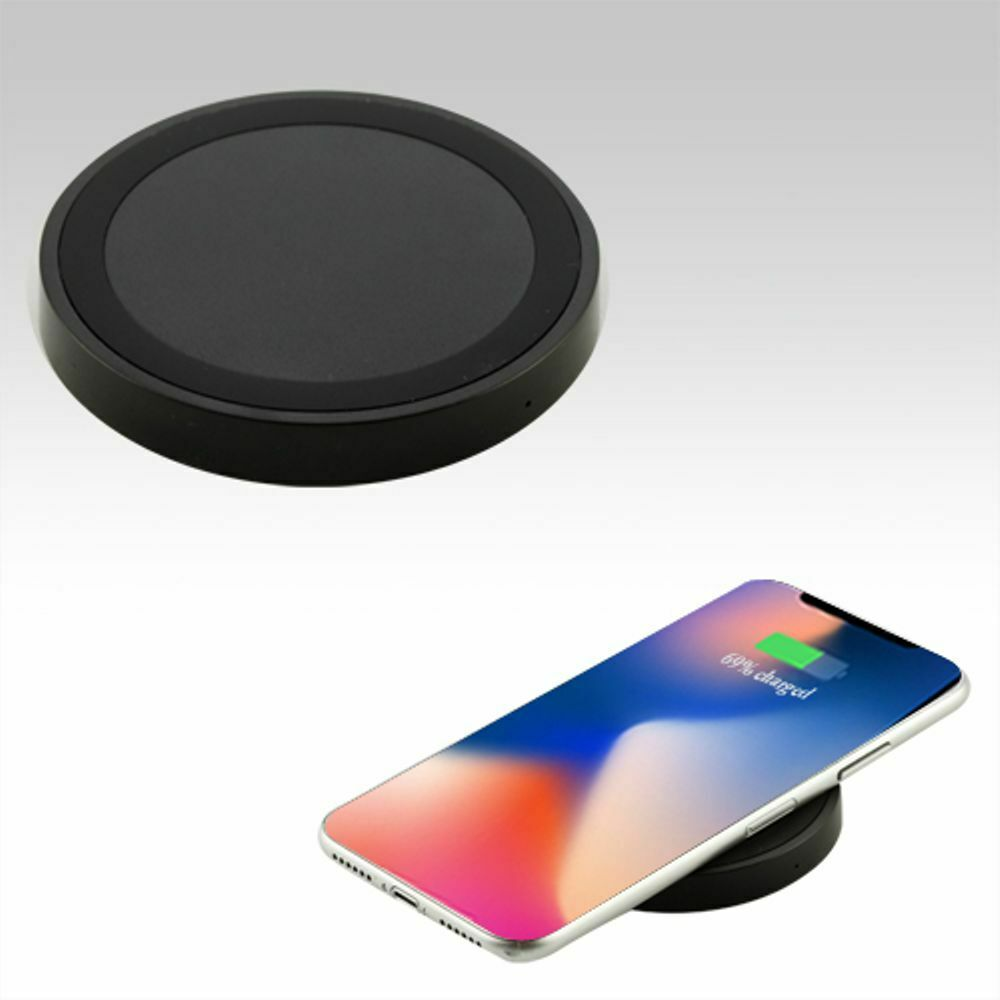 QI Wireless Charger WiFi Charging Pad Mat Dock for Samsung & iPhone  BLACK