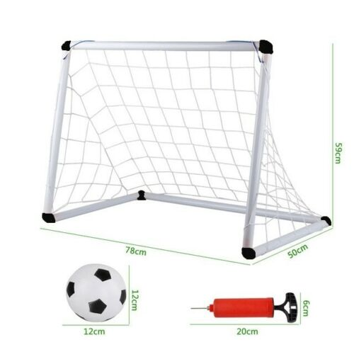Children's Junior Football Goal Soccer Set with Ball and Pump Kids Play Game 3+