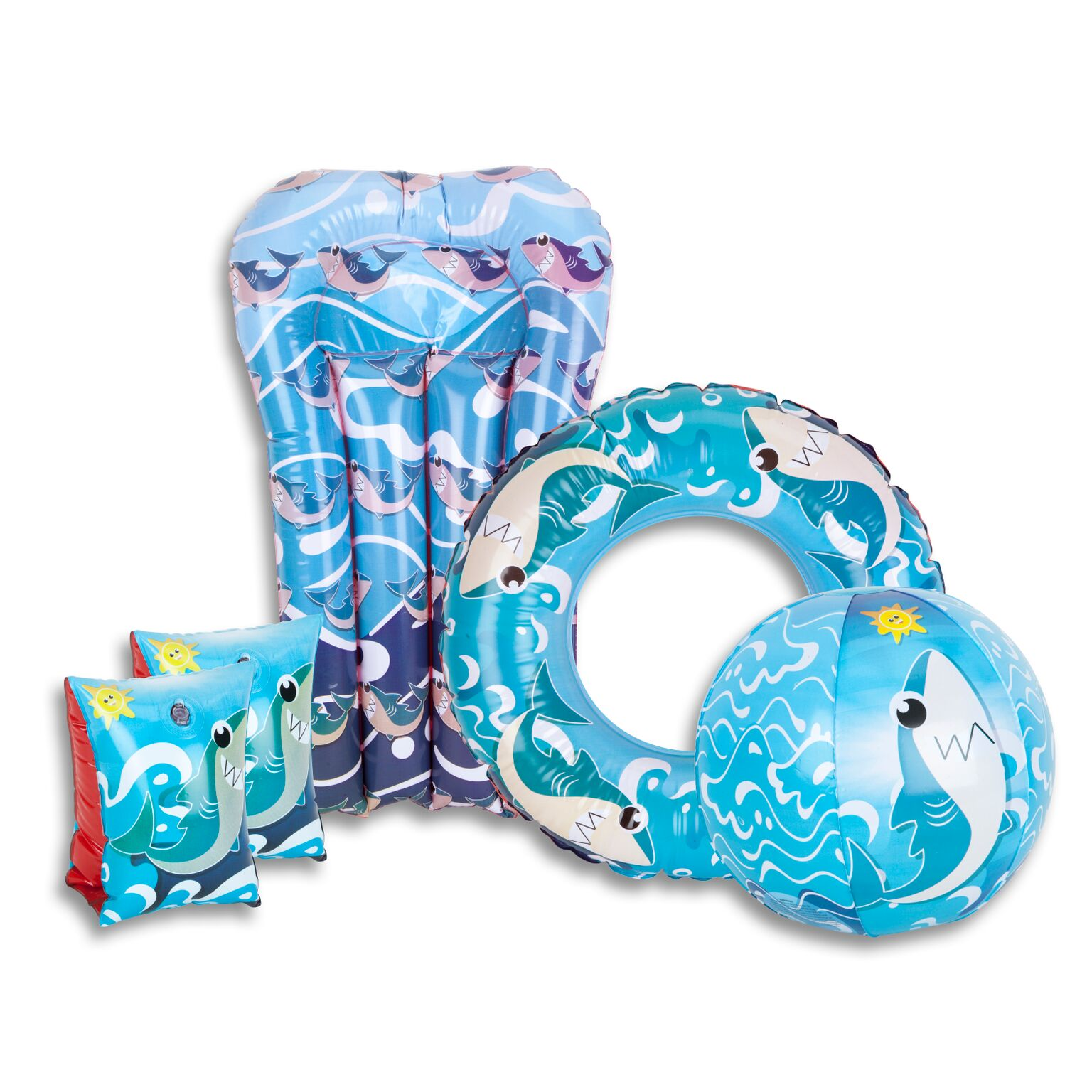 Swimming Set Mermaid or Shark Play Pool Set