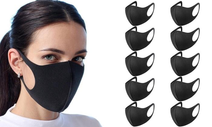 Reusable Black Face Covering – 10pck