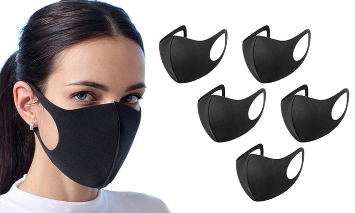 Reusable Black Face Covering – 5pck