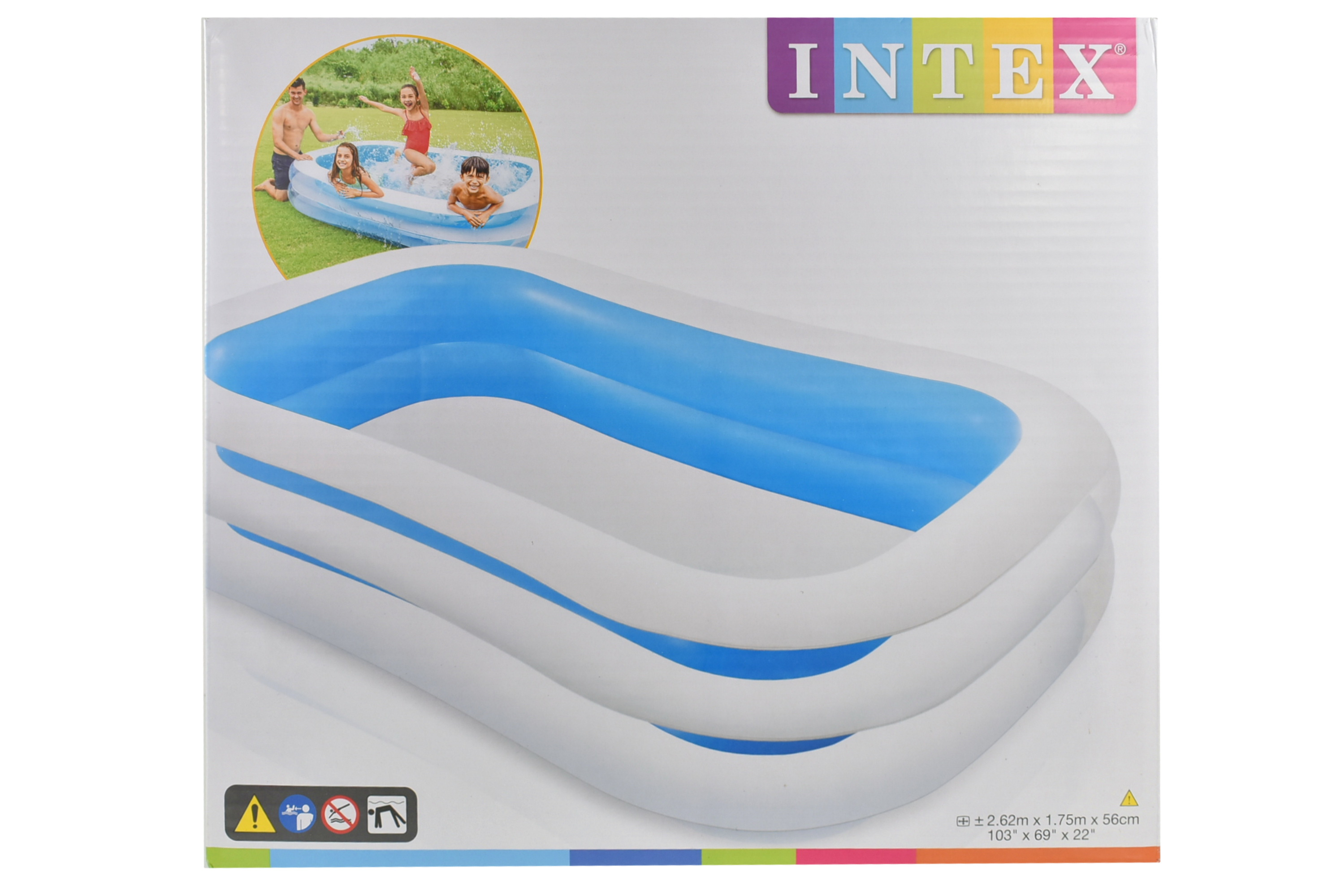 Family Inflatable Pool Swim Centre Paddling Pool Kids Summer Garden Fun 120 x 72