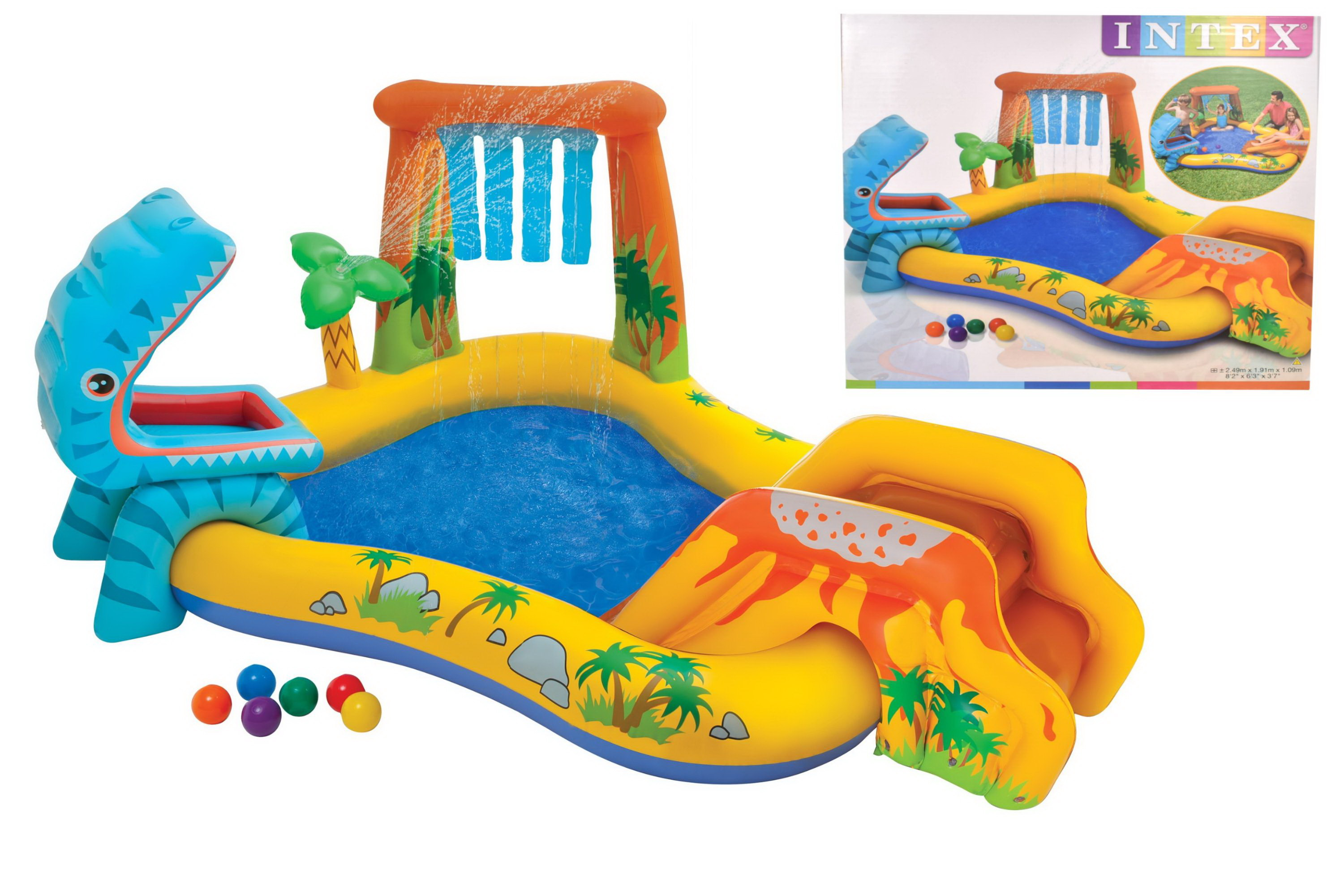 Intex Dinosaur Play Centre INFLATABLE SWIMMING POOL KIDS